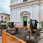 Brescia, lavori di riqualificazione del Sagrato della Chiesa di Sant'Afra
