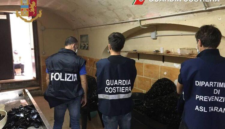 Taranto, sequestrati 300 chili di cozze in pessimo stato di conservazione