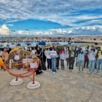 Bari, sulla piazza di Torre a Mare arriva Getto, il pesce mangia plastica